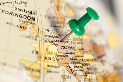 Cuadro Pin verde en el mapa.