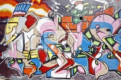 Cuadro Pintada urbana en Amsterdam los Países Bajos