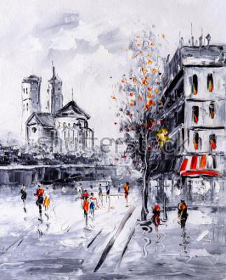 Cuadro Pintura al óleo - Street View de París