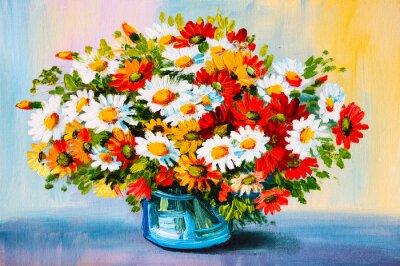 Cuadro Pintura al óleo - todavía vida, un ramo de flores