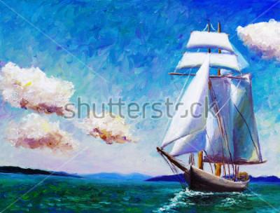 Cuadro Pintura al óleo - velero
