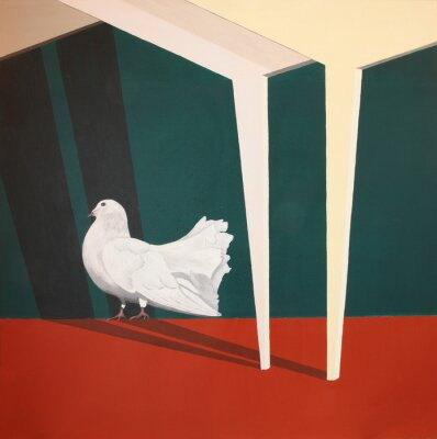 Cuadro Pintura de acrílico con la paloma