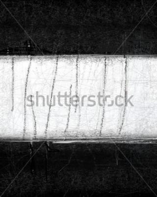 Cuadro Pintura en blanco y negro de arte abstracto