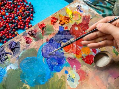 Pintura Para Pintar Un Cuadro Aprender Dibujo Manos Femeninas