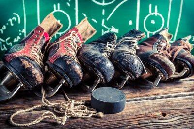 Cuadro Plan para jugar en partidos de hockey sobre hielo