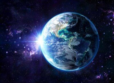 Cuadro planeta en el cosmos - Estados Unidos Vista - Usa