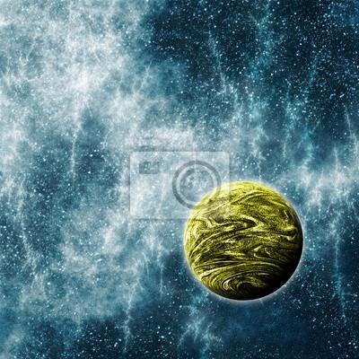 Cuadro Planeta Extrasolar en un espacio deformado Tiempo Región