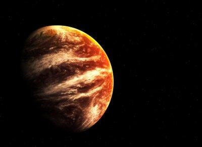 Cuadro Planeta rojo y las estrellas