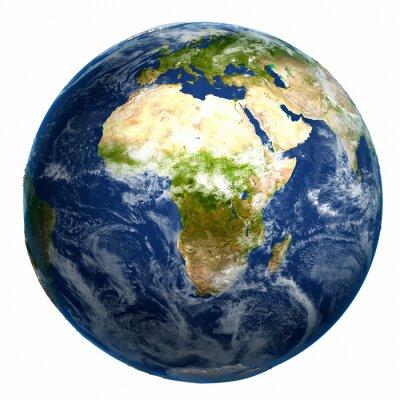 Cuadro Planeta tierra mapa