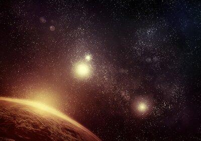 Cuadro Planeta y Starfield