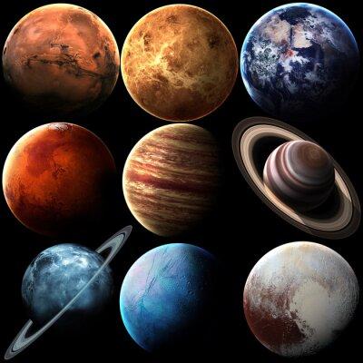 Cuadro Planetas aislados del sistema solar de la calidad de Hight. Elementos de esta imagen proporcionados por la NASA