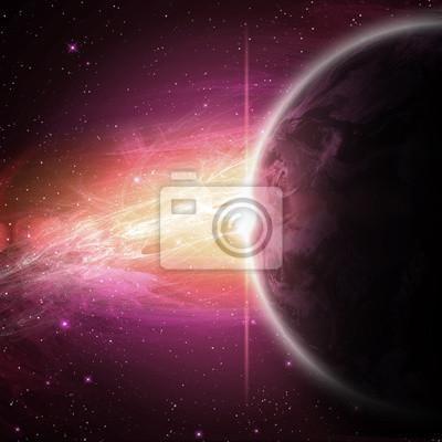 planetas en el espacio