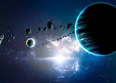 Cuadro Planetas más de las nebulosas en el espacio.