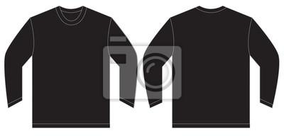 b57a542e02055 Plantilla de diseño de la camiseta de manga larga negra pinturas ...