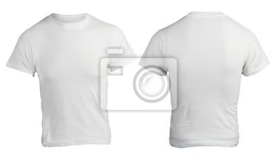 imágenes detalladas entrega rápida varios tipos de Cuadro: Plantilla de los hombres de camisa blanca en blanco, delante