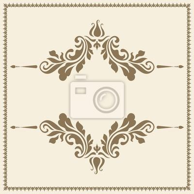 Plantilla ornamental del marco del oro de la vendimia pinturas para ...