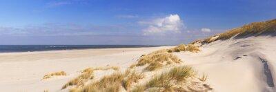 Playa sin fin en la isla de Terschelling en los Países Bajos