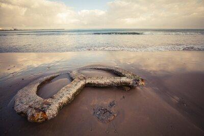 Cuadro Playa vacía de la ciudad de Tánger, Marruecos
