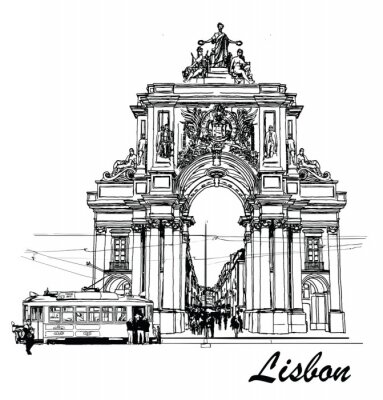 Cuadro Plaza de Comercio en Lisboa