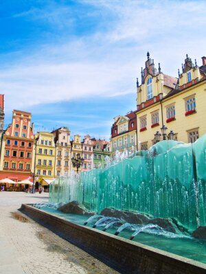plaza del mercado, Wroclaw, Polonia