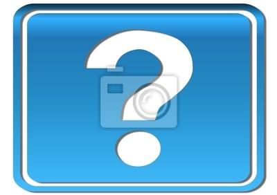 Cuadro point d'interrogación 3d bleu