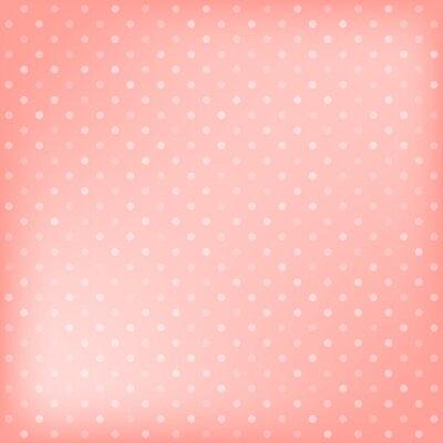 Cuadro Polka dot fondo de color rosa