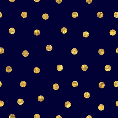 Cuadro Polka dot Seamless patrón oro.