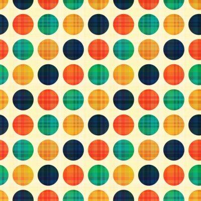 Cuadro polka patrón abstracto sin fisuras puntos