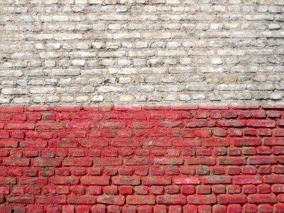 Cuadro Polonia bandera pintada en una pared