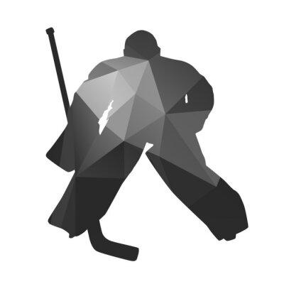 Cuadro Portero de hockey sobre hielo