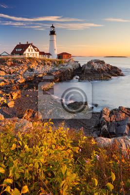 Portland Head Lighthouse, Maine, USA at sunrise
