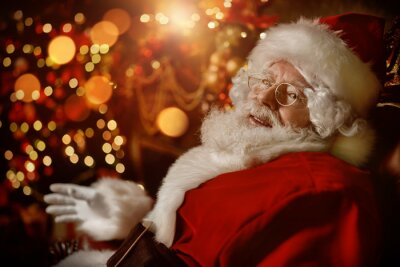 Portrait of traditional Santa Claus