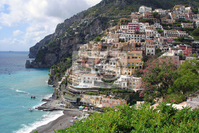 Positano en la costa de Amalfi