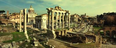 Cuadro Postal vintage con foro romano