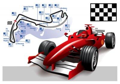 Cuadro Poster Mónaco de Fórmula 1 Grand Prix