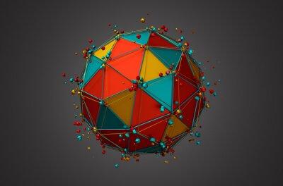 Cuadro Prestación de Esfera con Wireframe y Partículas.