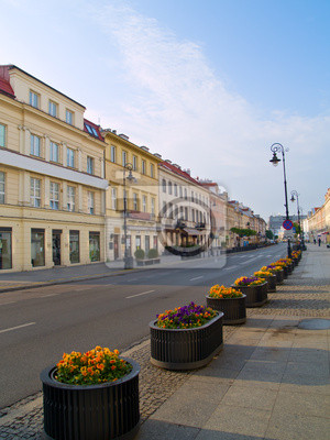 Principal calle de moda (Novy Swiat), Varsovia, Polonia