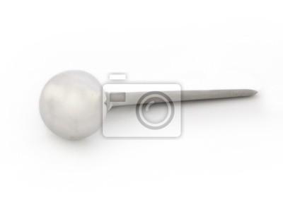Prótesis de cadera aislado en un fondo blanco