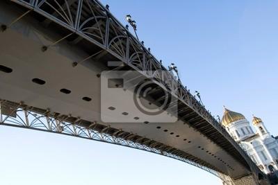 Puente al templo Hrista salvador en Moscú