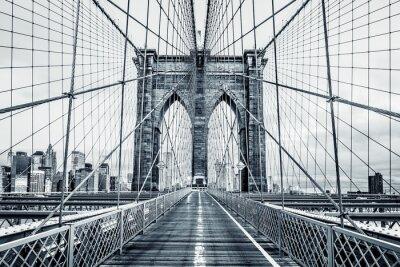 Cuadro Puente de Brooklyn blanco y negro