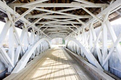Cuadro Puente Groveton cubierto (1852), New Hampshire, EE.UU.