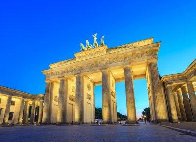 Cuadro Puerta de Brandenburgo en la noche - Berlín - Alemania