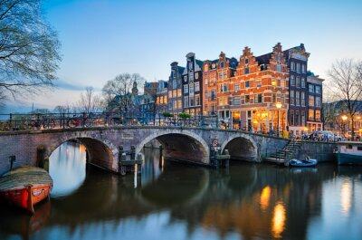 Cuadro Puesta de sol en Amsterdam, Países Bajos