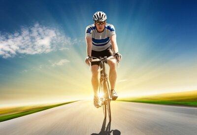 Cuadro Puesta de sol en bicicleta