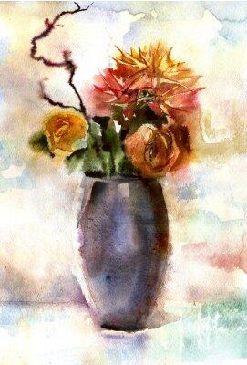 Cuadro Ramo de flores de acuarela