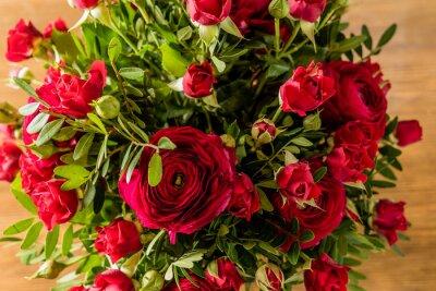 Cuadro Ramo de rosas rojas
