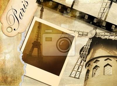 recuerdos parisinos - álbum de fotos de época