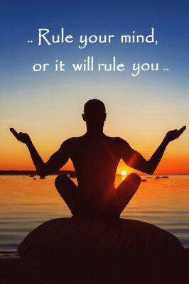 Cuadro Regla tu mente o te gobernará. Motivación por sí mismo