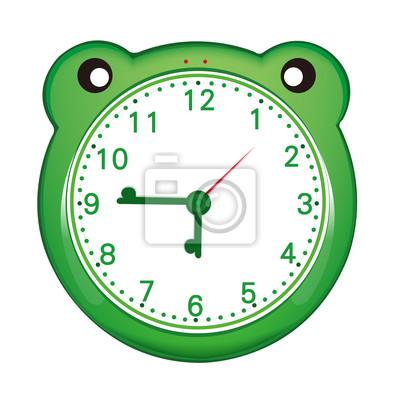 Reloj de alarma de dibujos animados pinturas para la pared • cuadros ...
