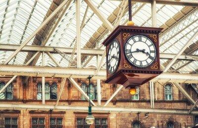 Cuadro Reloj de la estación antigua